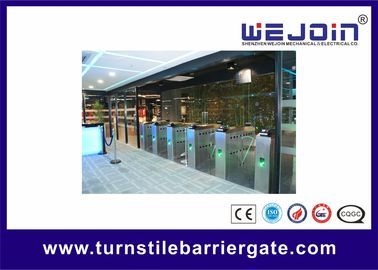 Çin Intelligent Flap barrier integrated with 304 stainless steel Used in Subway Station Fabrika