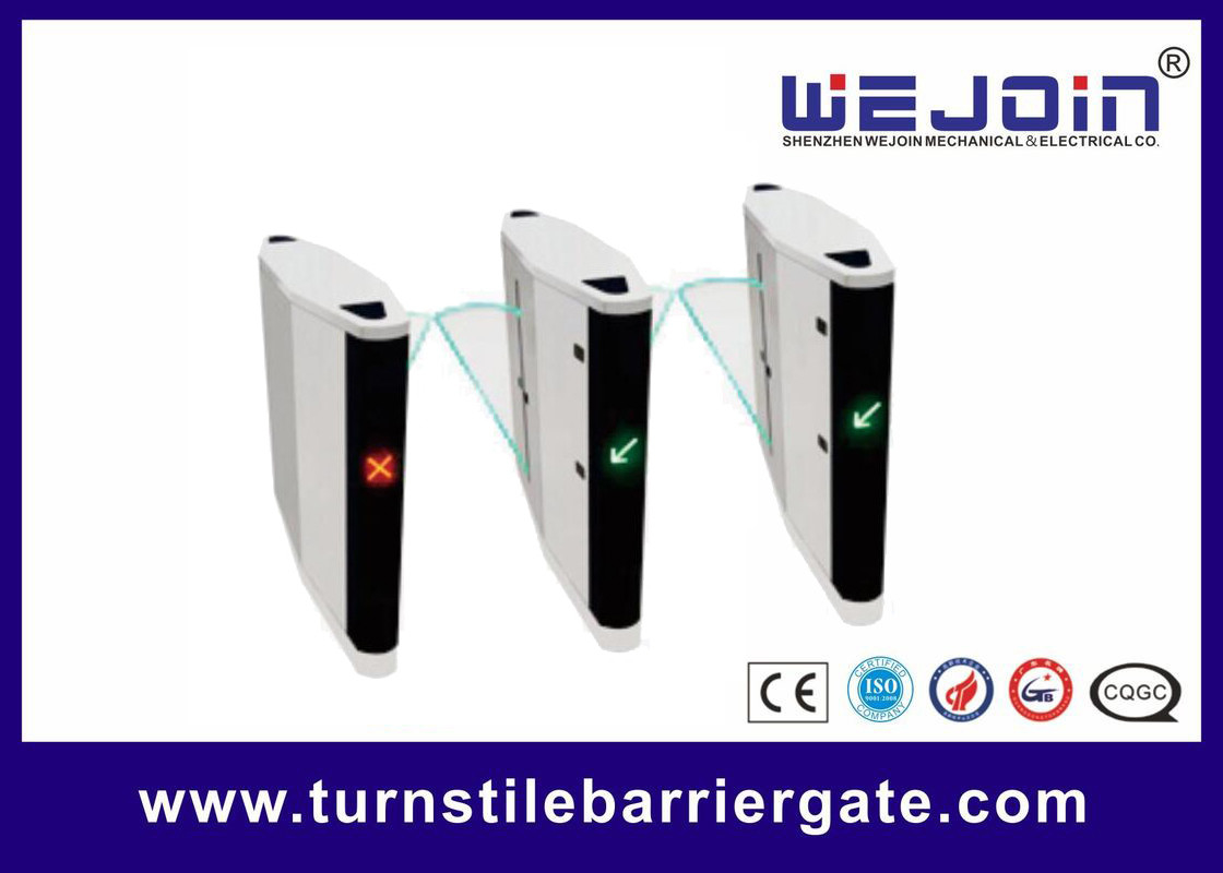 Intelligent access high speed retractable flap turnstile barrier gate Tedarikçi